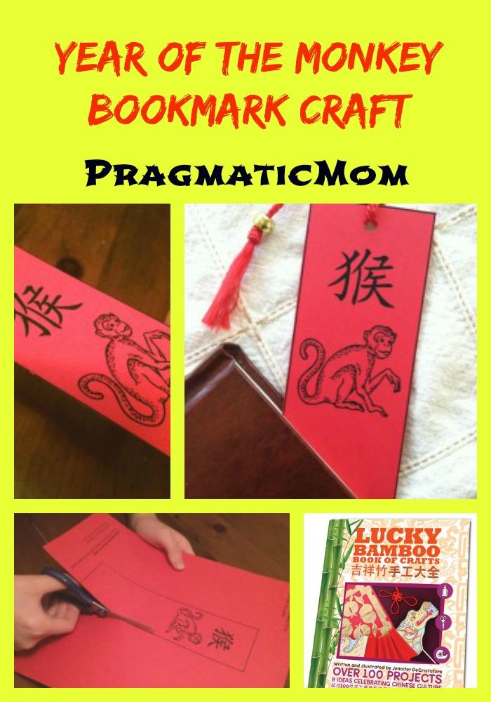 Year of the Monkey Bookmark Craft