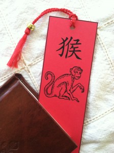 Year of the Monkey bookmark craft