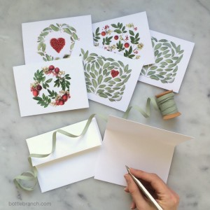 Giveaway: Botanical Cards from Bottle Branch