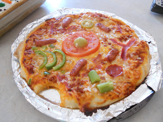 pizza model of a cell