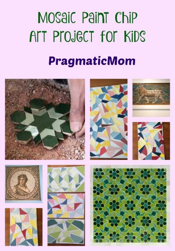 Mosaic Paint Chip Art Project for Kids