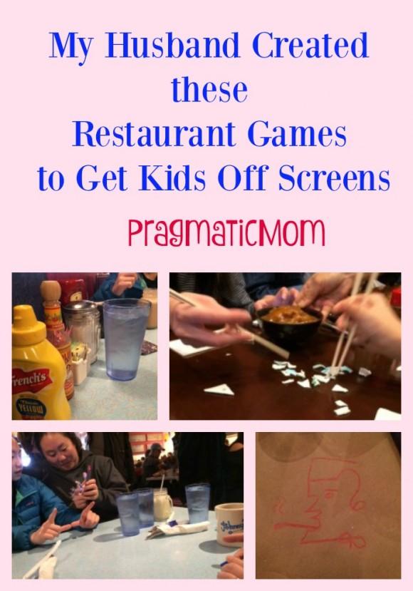 Restaurant Games to Get Kids Off Screens