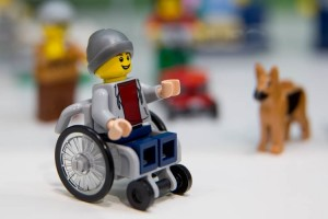 Lego wheelchair mini figure