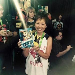 Lisa Yee with Wonder Woman