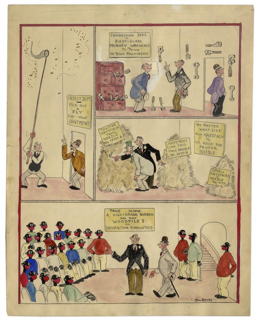 Dr. Seuss racist drawings
