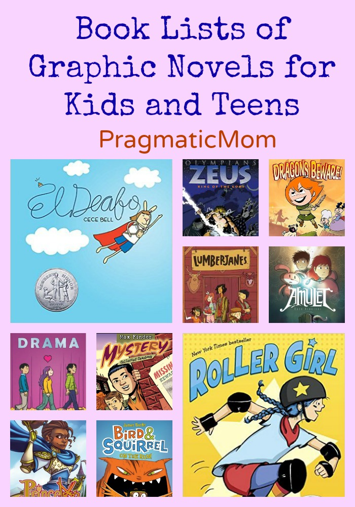 Book Lists of Graphic Novels for Kids and Teens