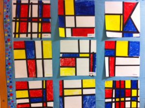 Mondrian Art and Music Project for Kids