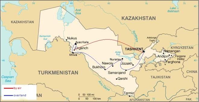 Samarkand, the old silk road