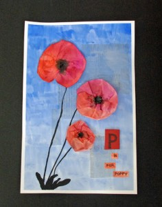 P is for Poppy art project for kids