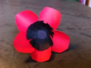 poppy art project for Veterans Day