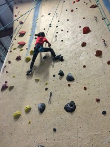 PickyKidPix rock climbing at Central Rock Gym