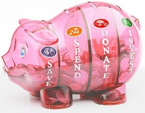 Save Spend Donate piggy bank