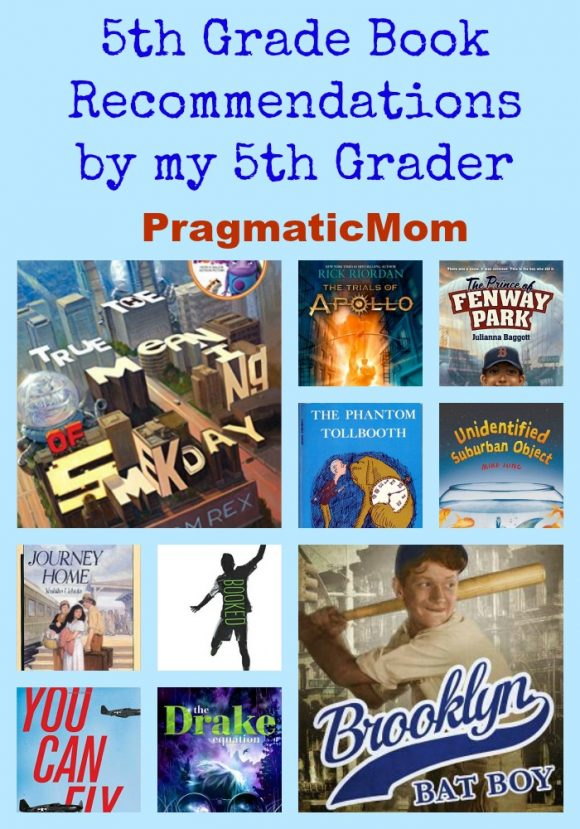 5th Grade Book Recommendations from My 5th Grader