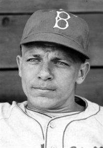 Head and shoulders of Brooklyn Dodgers Eddie Stankey, 1946