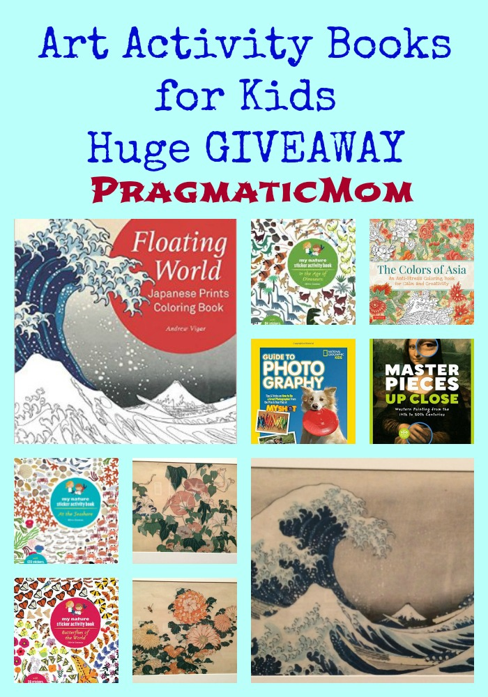 Art Activity Books for Kids Huge GIVEAWAY