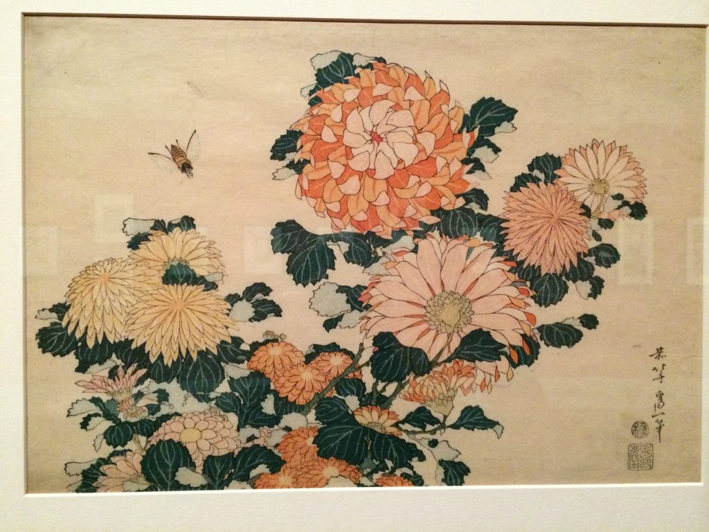 Hokusai flower painting 1