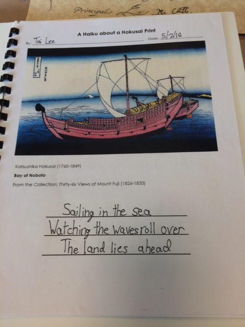 Getting Kids to Write Haiku using Japanese Art