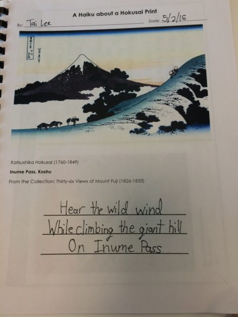 Getting Kids to Write Haiku using Japanese Art