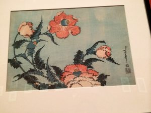 Hokusai flower wood block prints