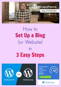 how to set up a blog or website