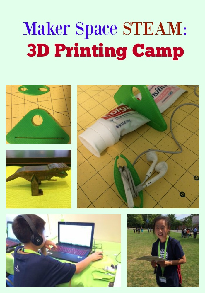 Maker Space STEAM: 3D Printing Camp