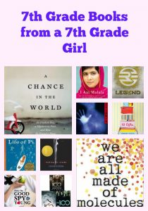 7th Grade Books from a 7th Grade Girl