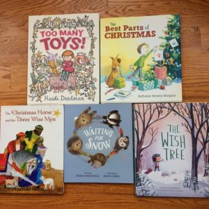 5 book snow winter picture book giveaway