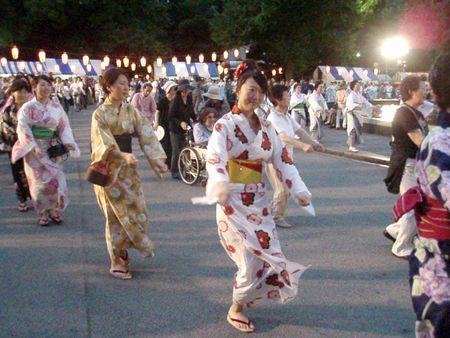 Obon dance in Japan