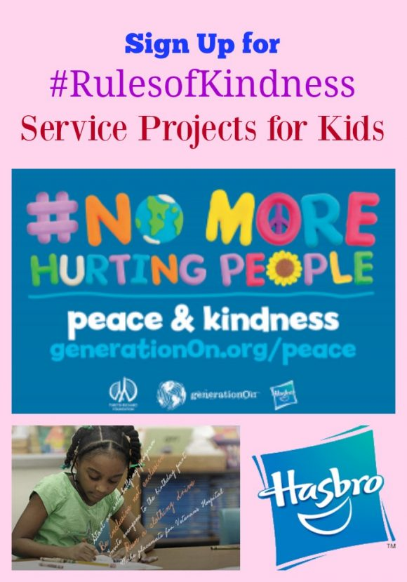 Sign Up for #RulesofKindness Service Projects for Kids
