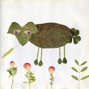 animal leaf art