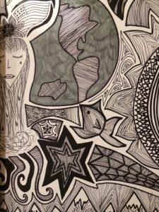 doodle art grasshopper and sensei
