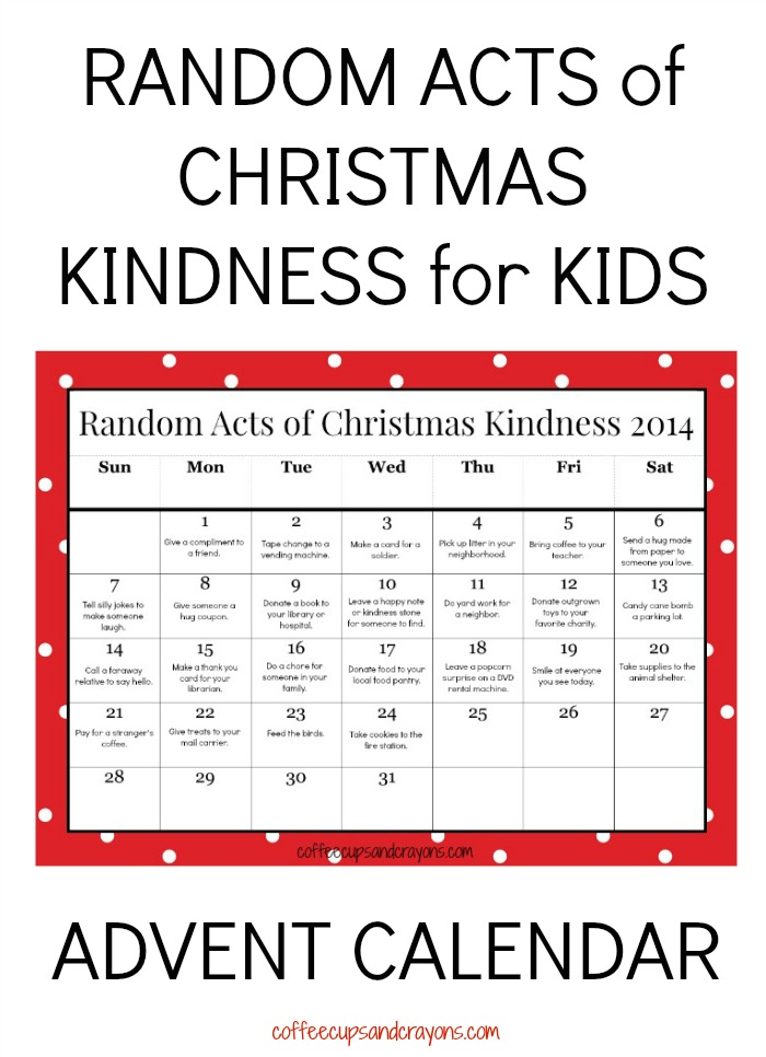 Random Acts of Christmas Kindness for Kids