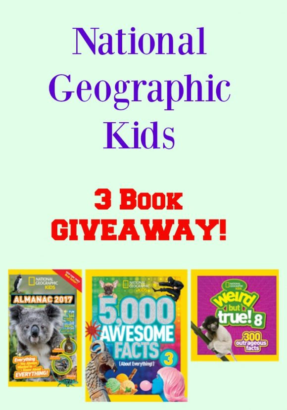 National Geographic Kids 3 Book GIVEAWAY!