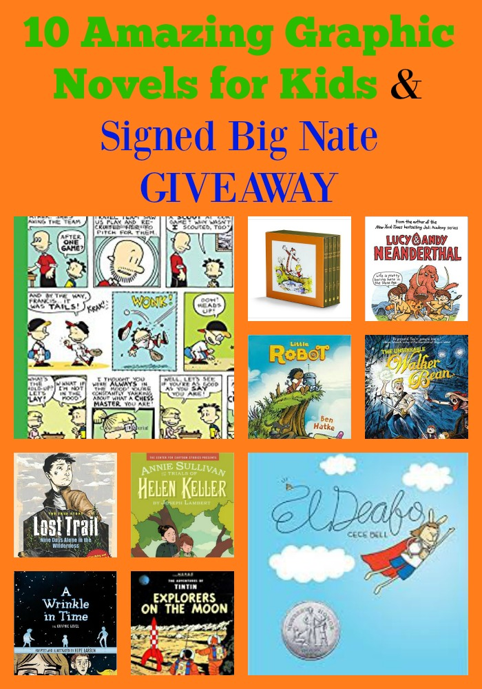 10 Amazing Graphic Novels for Kids & Signed Big Nate GIVEAWAY