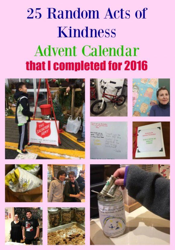 25 Random Acts of Kindness Advent Calendar
