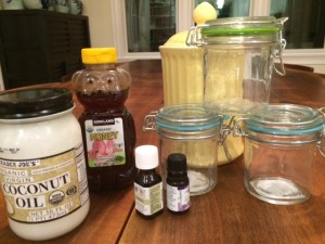 DIY Lemon Coconut Body Scrub