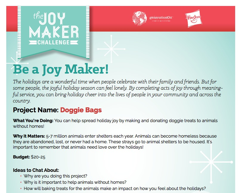 Joy Maker Guide Challenge for Kids