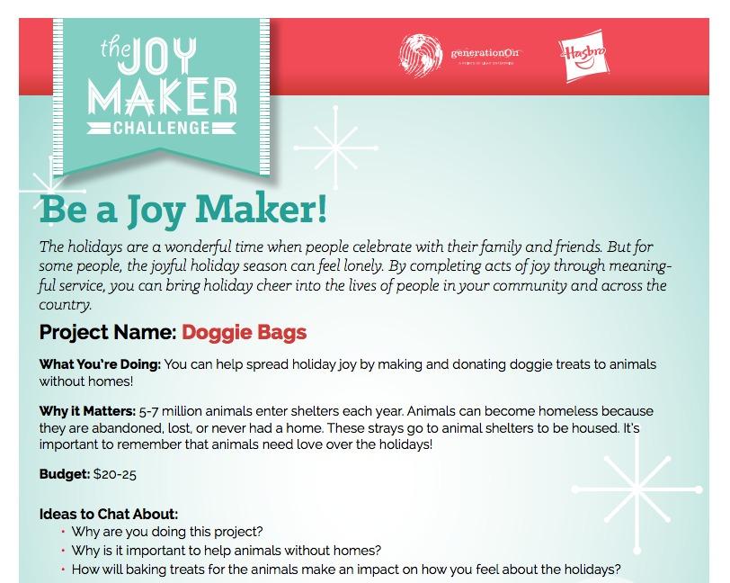 Joy Maker Guide Challenge for Kids