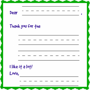DIY Thank You Printable Cards for Kids
