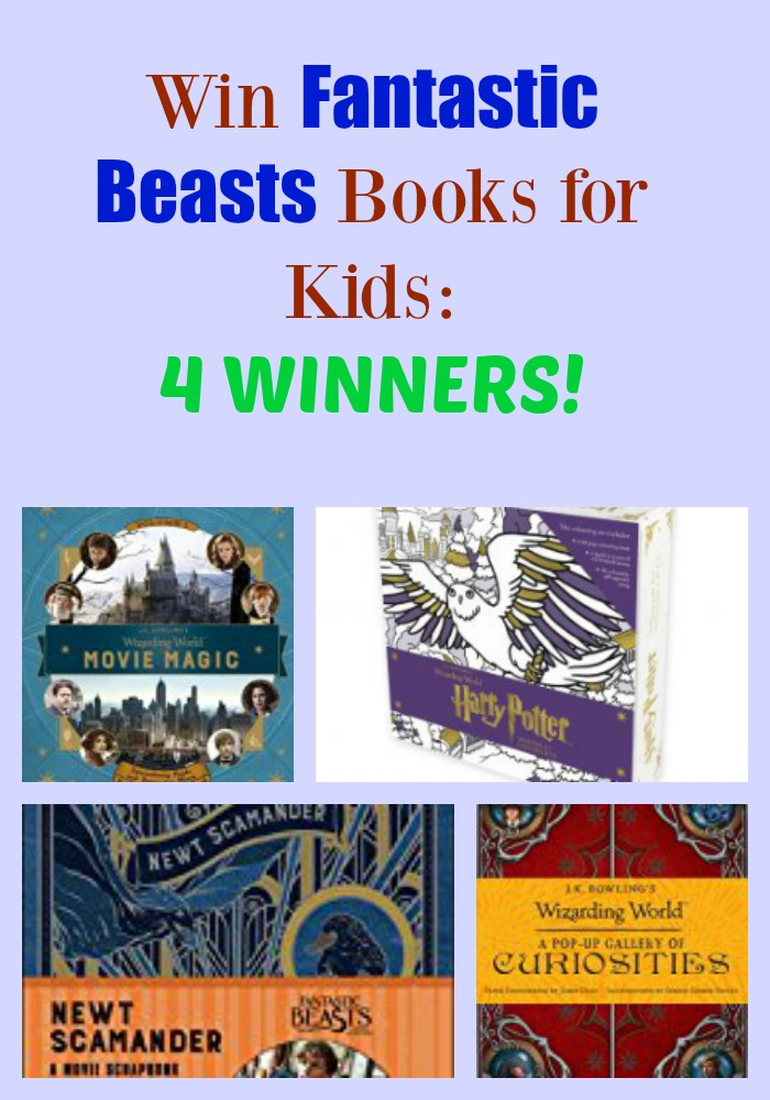 Win Fantastic Beasts Books for Kids: 4 WINNERS!