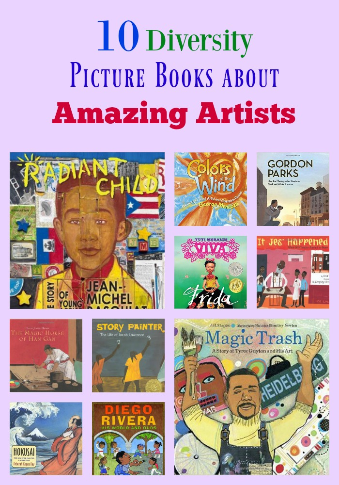 10 Diversity Picture Books about Amazing Artists
