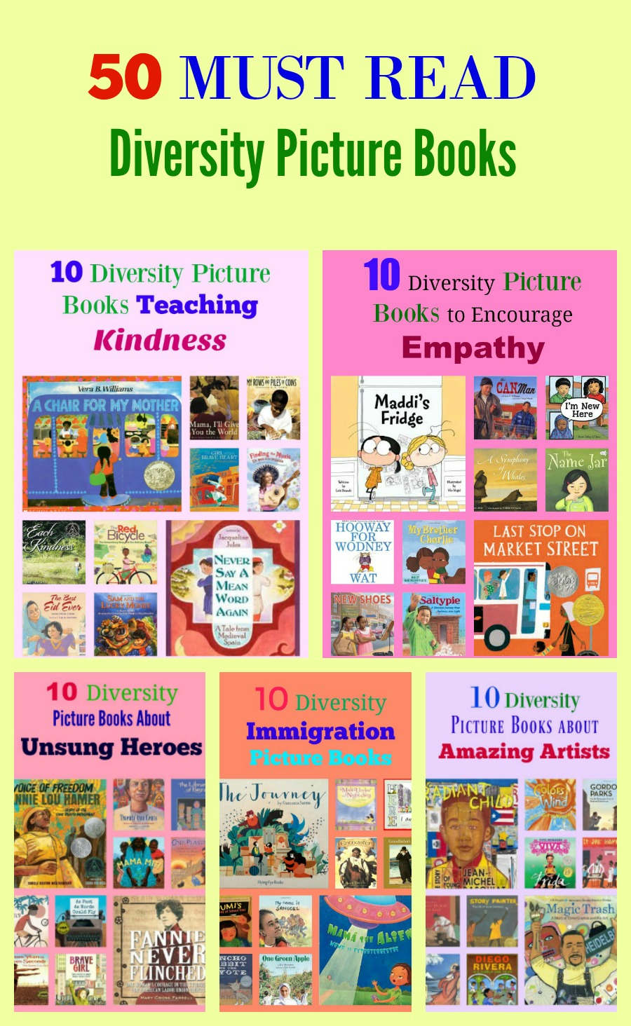 50 MUST READ Diversity Picture Books