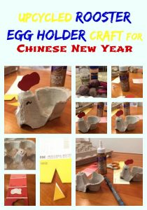 Upcycled Rooster Egg Holder