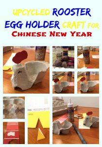 Upcycled Rooster Egg Holder