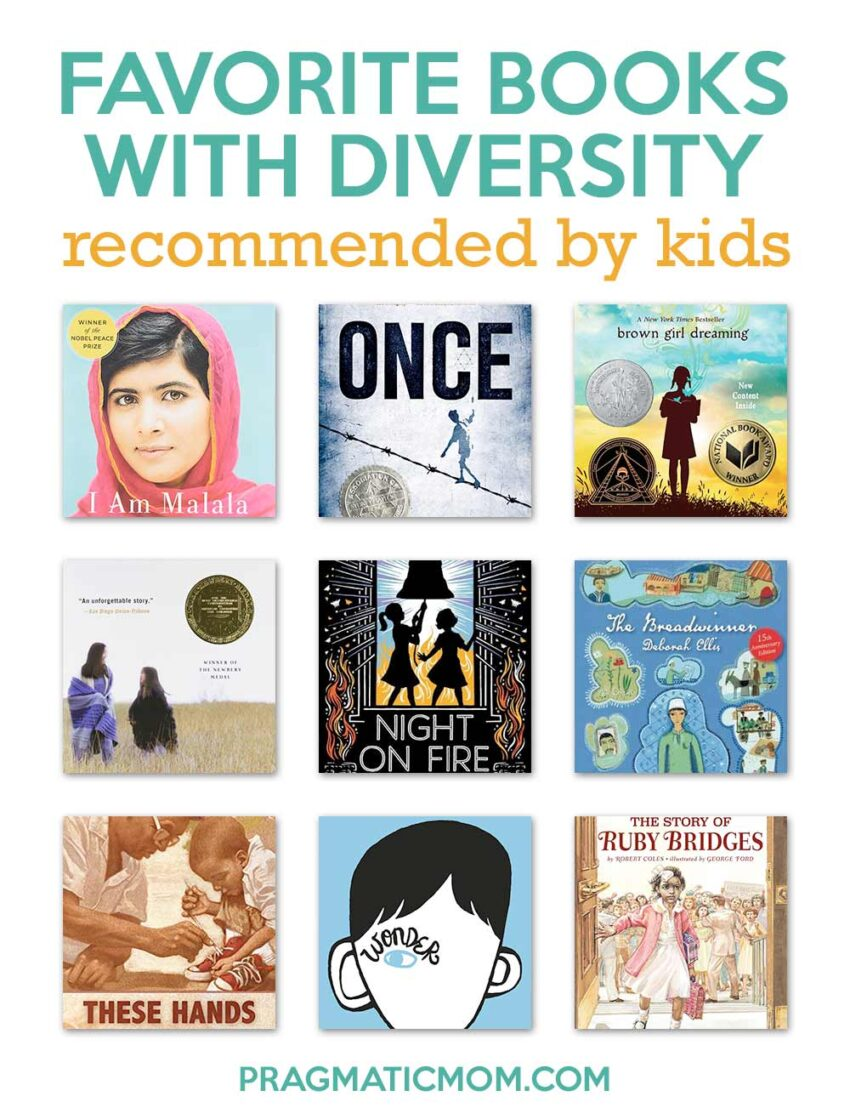 Favorite Books with Diversity Recommended by Kids