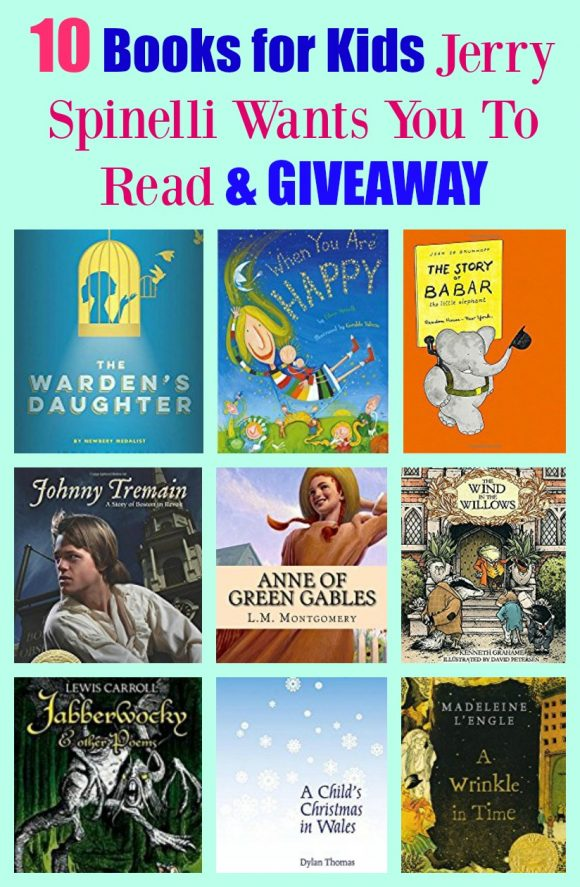10 Books for Kids Jerry Spinelli Wants You To Read