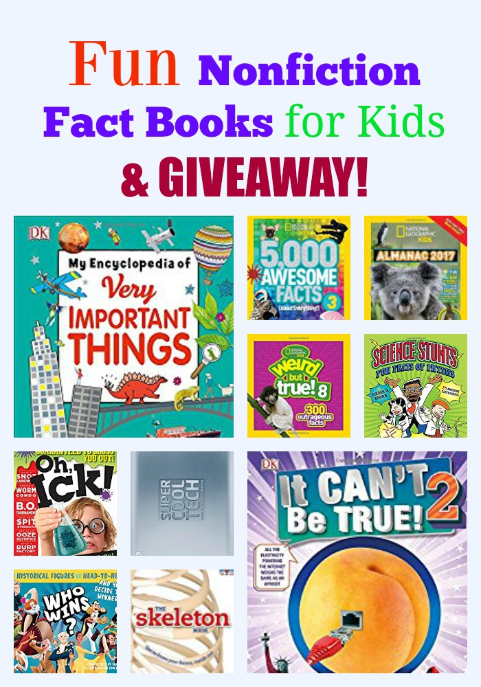 Fun Nonfiction Fact Books for Kids & GIVEAWAY!