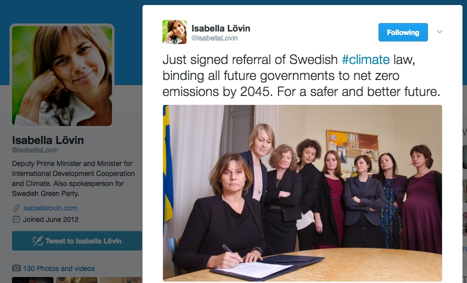 power of women swedish climate law