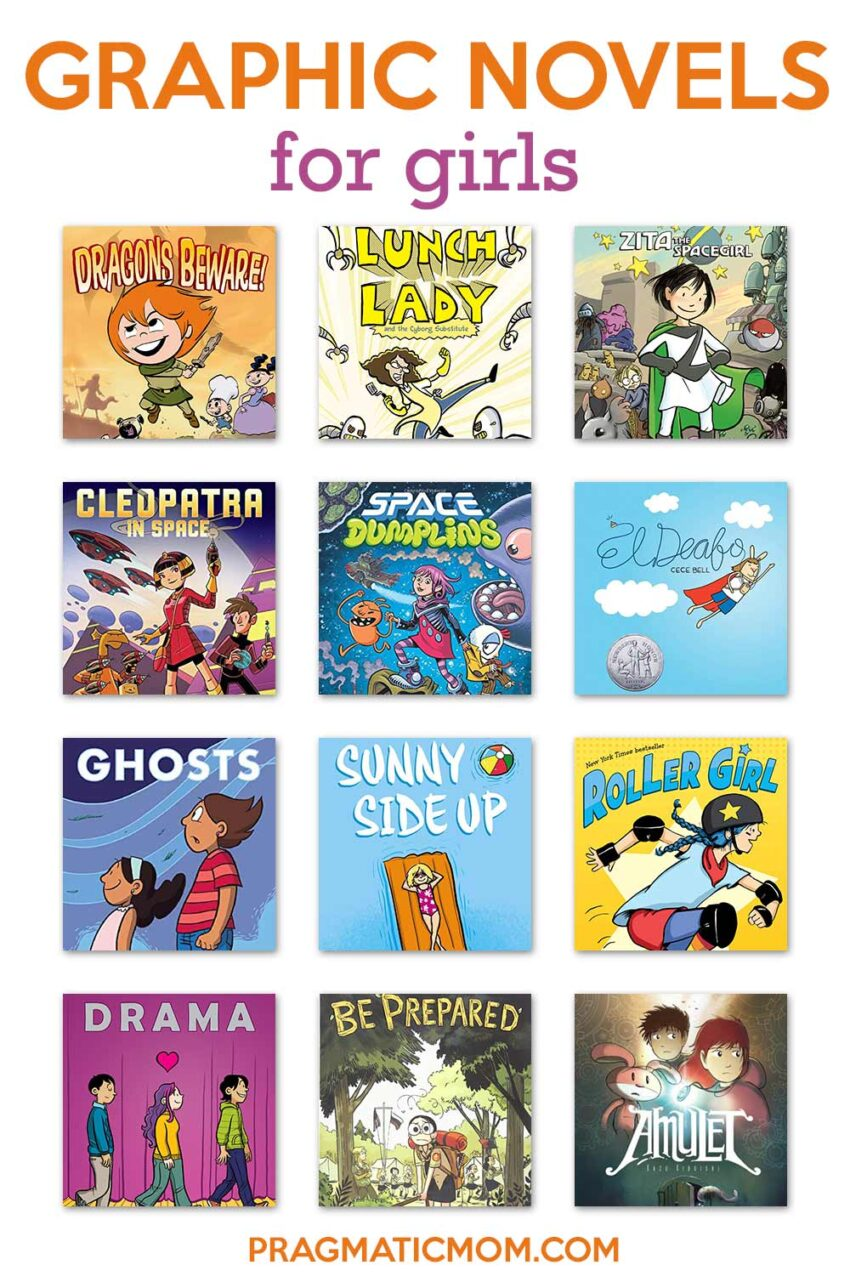 My Favorite Graphic Novels for Girls Ages 6 and Up