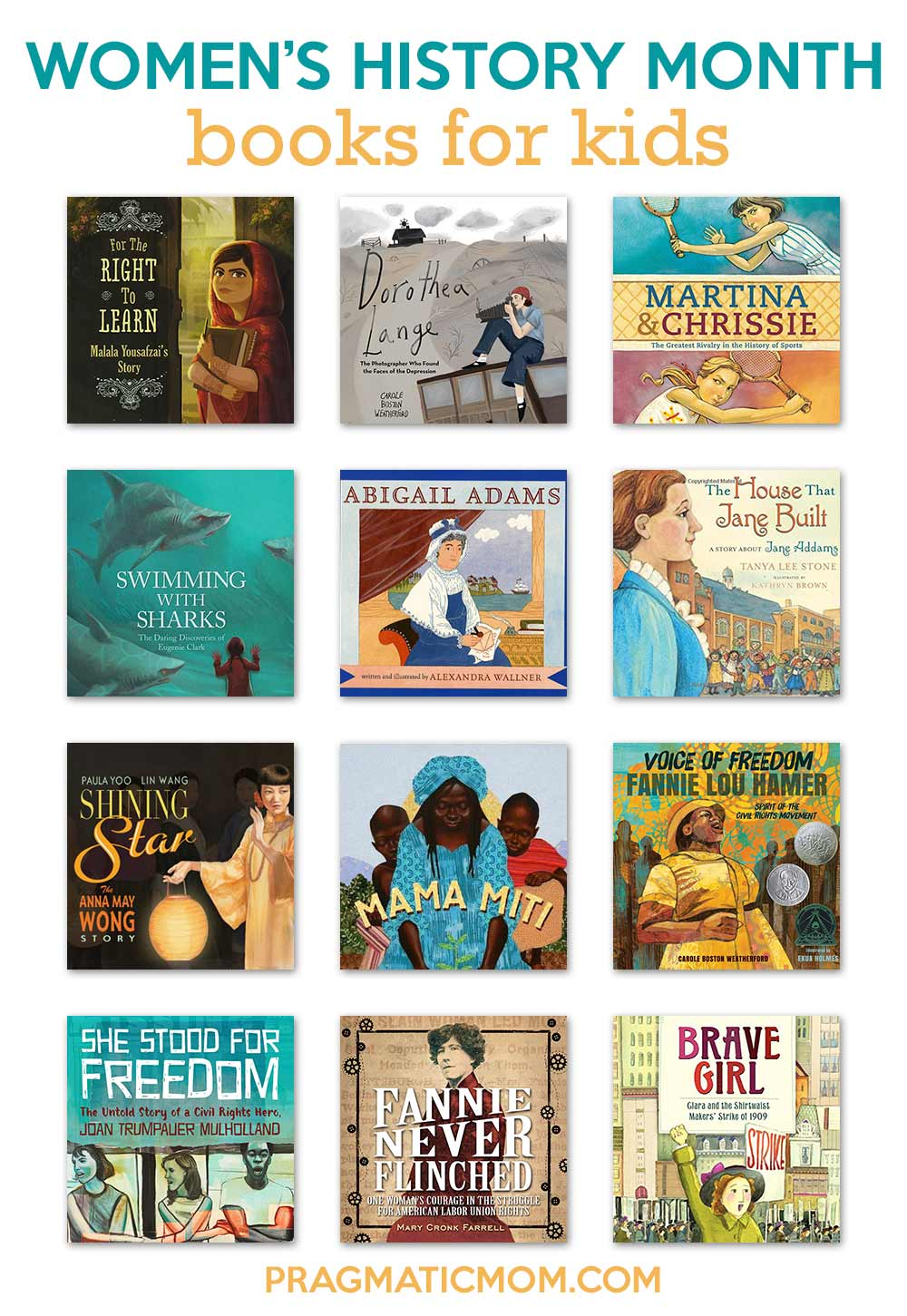 Women's History Month books for kids